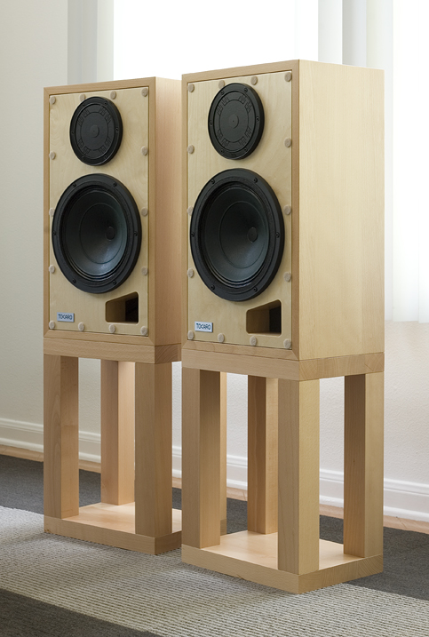 The Tocaro 42D Loudspeaker with and without grilles